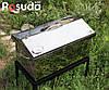 """Коптильня большая из нержавейки с термометром """"Домик"""" (520x300x310), фото 5"""