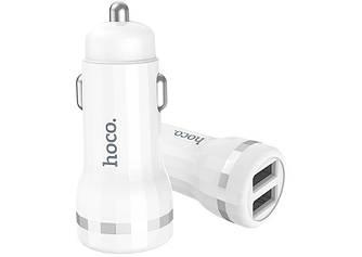 Автомобильное зарядное устройство Hoco Z27 2 USB 2.4A + кабель Lightning