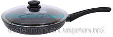 Сковорода Биол Оптима антипригарна зі скляною кришкою 28 см 2804ПС, фото 3