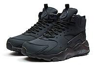 Мужские зимние ботинки на меху в стиле Nike Air, серые 42 (25,9 см)