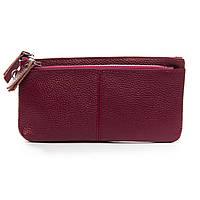 Женский кожаный кошелек-косметичка  A00276-5 red