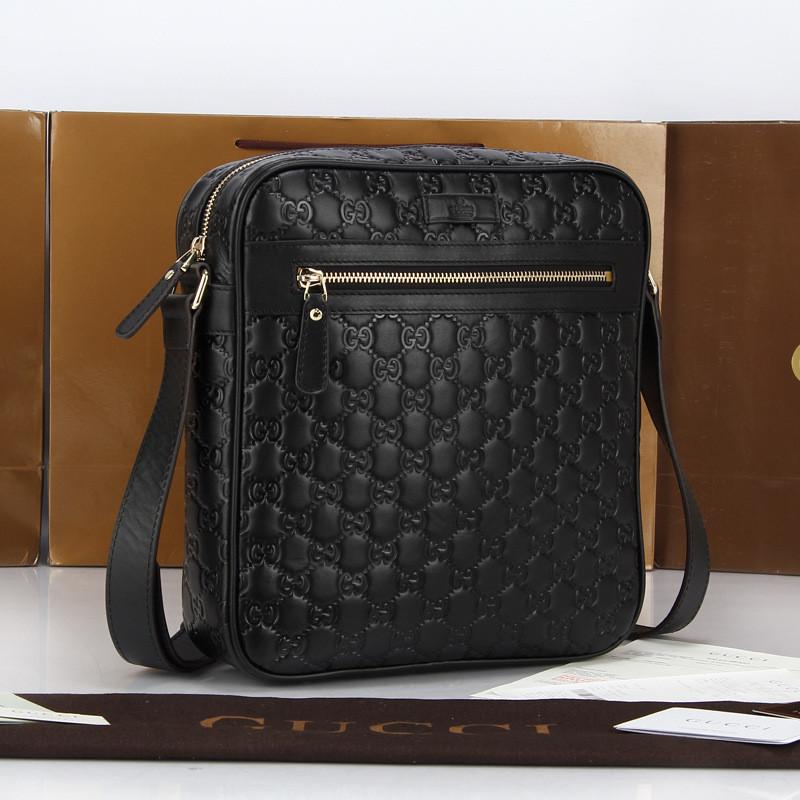 Мужская кожаная сумка Gucci