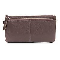Женский кожаный кошелек-косметичка  A00276-5  pink