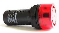 Звуковий сигналізатор ND16-22F Φ22 мм Червоний АС/DC24В