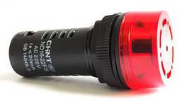 Сигнализатор звуковой ND16-22L Φ22 мм Красный АС/DC24В