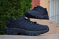 Мужские зимние кроссовки в стиле Merrell Ice Cap Moc, нейлон, ткань, черные на стяжке 44 (28 см)