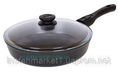 Сковорода антипригарная со съемной ручкой и крышкой Биол Классик 24 см 24071ПС