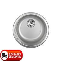 Круглая кухонная мойка Apell Circum CIVIIBC brushed 44 см