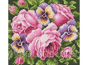 Мозаичное панно 276-ST-S Розы и анютины глазки