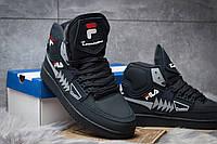 Мужские зимние ботинки в стиле FILA Turismo, тёмнo-cиние 45 (28,9 см)