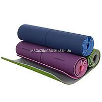 Коврик для йоги и фитнеса. Йогамат, 183х61х0,4 см (2352) - 3 цвета