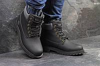 Мужские зимние ботинки на меху в стиле Timberland, черные 46 (29,5 см)