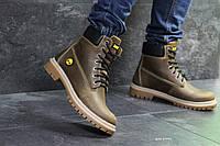 Мужские зимние ботинки на меху в стиле Timberland, коричневые 43 (29 см)