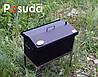 Коптильня Кришка Будиночком (520х300х310) з термометром пофарбована, фото 4