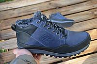 Мужские зимние ботинки на меху в стиле New Balance, синие 41