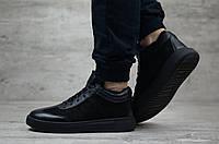 Мужские зимние ботинки на меху в стиле Philipp Plein, черные 41