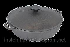 Жаровня чугунная Биол сковорода с чугунной крышкой 26см 03263