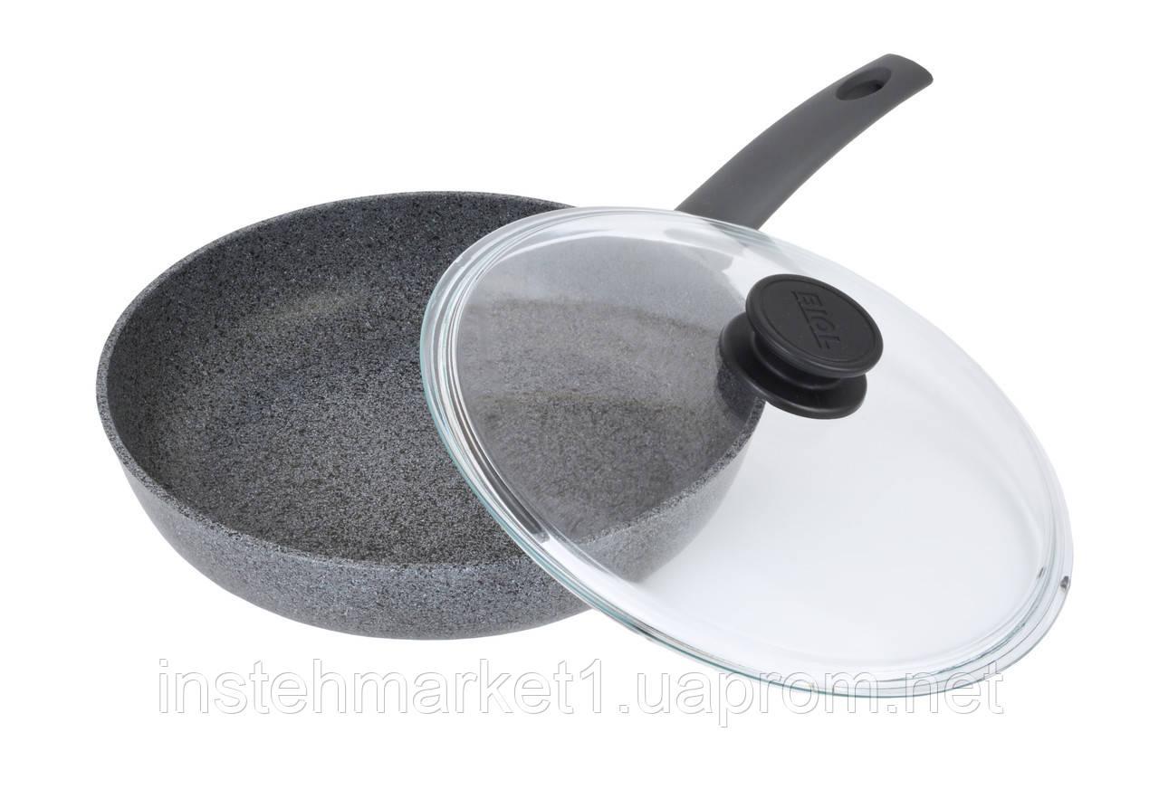 Сковорода Биол Граніт грей з антипригарним покриттям 24 см 24134ПС