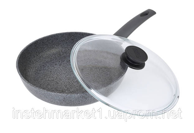 Сковорода Биол Граніт грей з антипригарним покриттям 24 см 24134ПС, фото 2