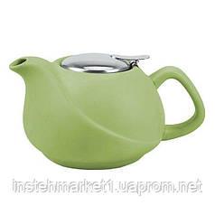 """Заварочный чайник керамический """"Светло-зеленый"""" с ситечком 0,75 л"""