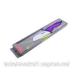 Нож керамический сантоку Fissman SEMPRE 13 см белое лезвие KN-2127.ST