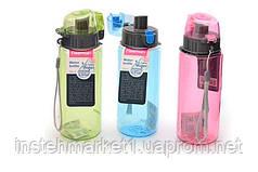 Бутылка спортивная/детская пластиковая для воды Fissman 0,5 л 6845
