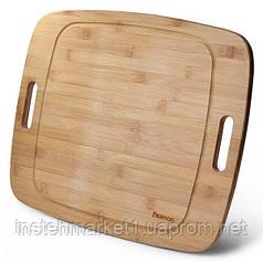 Разделочная доска большая Fissman бамбуковое волокно 49x41 см 8776