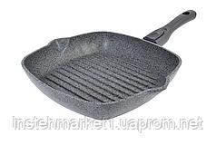 Сковорода-гриль Биол Гранит грей со съемной ручкой 26 см 26144П