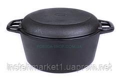 Чугунная кастрюля Биол с крышкой-сковородой 5 л. (08051)