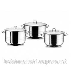 """Набор посуды из нержавеющей стали """"Mercan"""" из трех кастрюль 16,5л, 21л, 24,5л """"Arian"""" (06043)"""