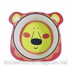 """Тарелка детская глубокая большая """"Львенок"""" бамбуковое волокно"""