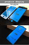 Захисне скло 9D для Iphone 6 6S чорне Premium якість, фото 9