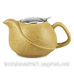 """Заварочный чайник керамический """"Песочный"""" с ситечком 0,75 л"""