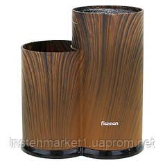 Подставка Fissman для ножей и ножниц коричневая 2882