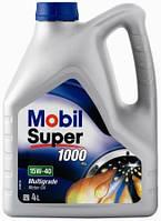 Моторное масло минеральное Mobil Super 1000 15W-40 4L (ACEA A3/B3, VW 501,01/505.001, MB 229.1)