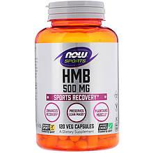 "Гидроксиметилбутират NOW Foods, Sports ""HMB"" 500 мг (120 капсул)"