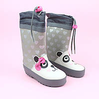 Резиновые детские сапожки девочке Панда тм Bi&Ki размер 24,27