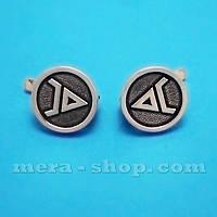 Символ Велеса серьги оберег из серебра, фото 1