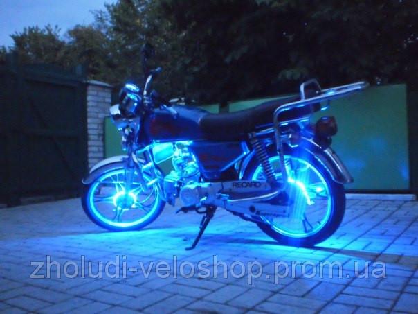 синия подсветка моторолера