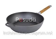 Сковорода чугунная Классик высокая со съемной ручкой Биол 28 см 0328