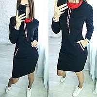 Женское спортивное платье с капюшоном