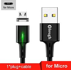 Elough E-Star 3A магнитный Micro-USB кабель. Быстрая зарядка Qualcomm Quick Charge 3.0 Burgundy Red, фото 3