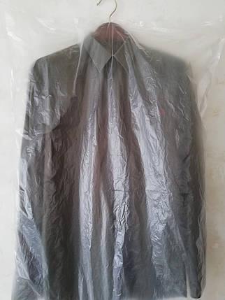 Чехлы для хранения одежды полиэтиленовые толщина 15 микрон ( шелестяшка). Размер 65*140 см,в упаковке 100 штук, фото 2