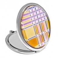 """Зеркало карманное круглое 6х7 см. """"Jardin d'ete"""" разноцветное, металлическое со стразами"""
