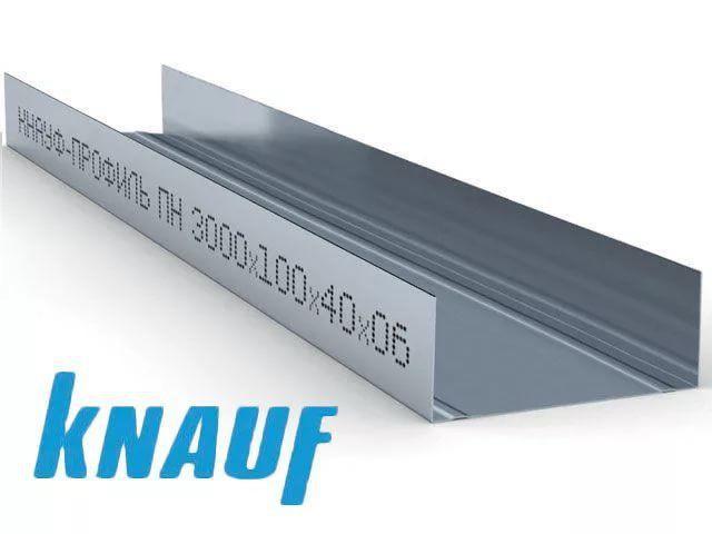 Профиль направляющий Кнауф (Knauf) UW-75 3 м (0,6 мм)