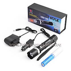 Фонарь Police 12v U8626-XPE, zoom, USB power bank(фонарь светодиодный)