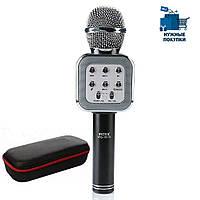 Микрофон-Караоке Bluetooth WSTER WS-1818 Black + чехол, фото 1