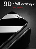 Защитное стекло 9D для Iphone X черное Premium качество, фото 2