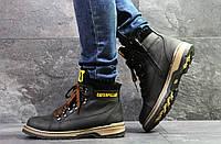 Мужские зимние ботинки на меху в стиле CAT Caterpilar, черные 41 (27,5 см)