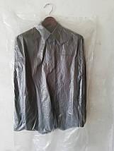 Чехлы для хранения одежды полиэтиленовые толщина 15 микрон ( шелестяшка). Размер 65*150 см,в упаковке 100 штук, фото 3